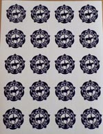 CPC Blue Stickers  - sheet of 20