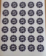 CPC Small Blue Stickers - sheet of 30
