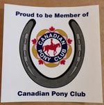 Proud to be a member of Pony Club Sticker